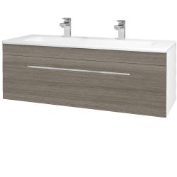 Dreja - Kúpeľňová skriňa ASTON SZZ 120 - N01 Bílá lesk / Úchytka T04 / D03 Cafe (131111EU)