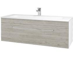 Dreja - Kúpeľňová skriňa ASTON SZZ 120 - N01 Bílá lesk / Úchytka T04 / D05 Oregon (131135E)