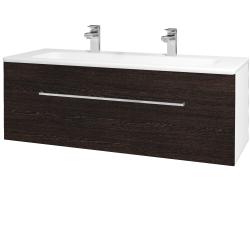 Dreja - Kúpeľňová skriňa ASTON SZZ 120 - N01 Bílá lesk / Úchytka T04 / D08 Wenge (131159EU)