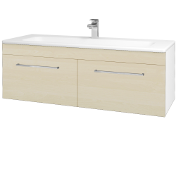 Dreja - Kúpeľňová skriňa ASTON SZZ2 120 - N01 Bílá lesk / Úchytka T04 / D02 Bříza (131173E)