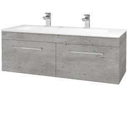 Dreja - Kúpeľňová skriňa ASTON SZZ2 120 - D01 Beton / Úchytka T04 / D01 Beton (131517EU)