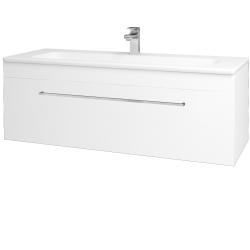 Dreja - Kúpeľňová skriňa ASTON SZZ 120 - N01 Bílá lesk / Úchytka T04 / L01 Bílá vysoký lesk (131593E)