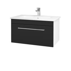 Dreja - Kúpeľňová skriňa ASTON SZZ 80 - N01 Bílá lesk / Úchytka T04 / L03 Antracit vysoký lesk (137519E)