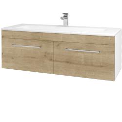 Dreja - Kúpeľňová skriňa ASTON SZZ2 120 - N01 Bílá lesk / Úchytka T04 / D09 Arlington (146849E)