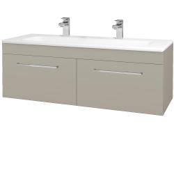 Dreja - Kúpeľňová skriňa ASTON SZZ2 120 - L04 Béžová vysoký lesk / Úchytka T04 / L04 Béžová vysoký lesk (146962EU)