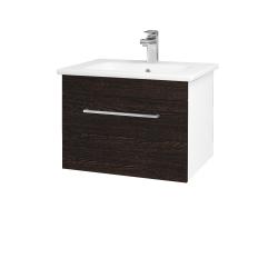 Dreja - Kúpeľňová skriňa ASTON SZZ 60 - N01 Bílá lesk / Úchytka T04 / D08 Wenge (148980E)