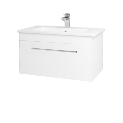 Dreja - Kúpeľňová skriňa ASTON SZZ 80 - N01 Bílá lesk / Úchytka T04 / M01 Bílá mat (199357E)
