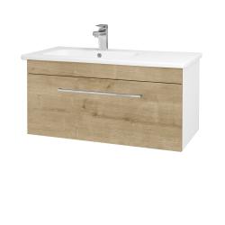 Dreja - Kúpeľňová skriňa ASTON SZZ 90 - N01 Bílá lesk / Úchytka T04 / D09 Arlington (199708E)