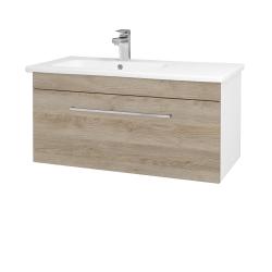 Dreja - Kúpeľňová skriňa ASTON SZZ 90 - N01 Bílá lesk / Úchytka T04 / D17 Colorado (199753E)