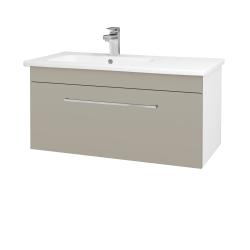 Dreja - Kúpeľňová skriňa ASTON SZZ 90 - N01 Bílá lesk / Úchytka T04 / M05 Béžová mat (199814E)