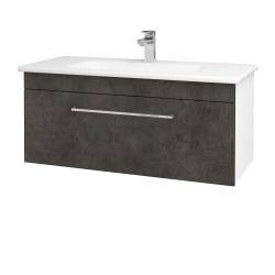 Dreja - Kúpeľňová skriňa ASTON SZZ 100 - N01 Bílá lesk / Úchytka T04 / D16 Beton tmavý (199944E)