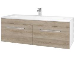 Dreja - Kúpeľňová skriňa ASTON SZZ2 120 - N01 Bílá lesk / Úchytka T04 / D17 Colorado (200275E)