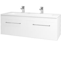Dreja - Kúpeľňová skriňa ASTON SZZ2 120 - N01 Bílá lesk / Úchytka T04 / M01 Bílá mat (200282EU)