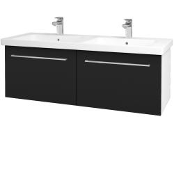 Dreja - Kúpeľňová skriňa BIG INN SZZ2 125 - N01 Bílá lesk / Úchytka T04 / N08 Cosmo (201654E)