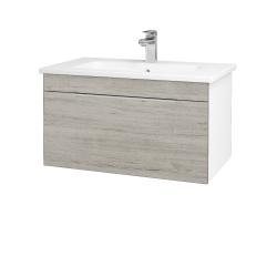 Dreja - Kúpeľňová skriňa ASTON SZZ 80 - N01 Bílá lesk / Úchytka T05 / D05 Oregon (130992F)