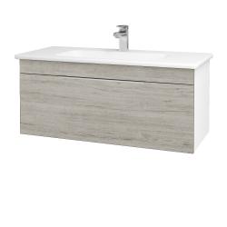 Dreja - Kúpeľňová skriňa ASTON SZZ 100 - N01 Bílá lesk / Úchytka T05 / D05 Oregon (131067F)