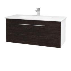 Dreja - Kúpeľňová skriňa ASTON SZZ 100 - N01 Bílá lesk / Úchytka T05 / D08 Wenge (131081F)