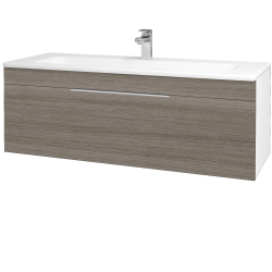Dreja - Kúpeľňová skriňa ASTON SZZ 120 - N01 Bílá lesk / Úchytka T05 / D03 Cafe (131111F)