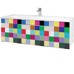 Dreja - Kúpeľňová skriňa ASTON SZZ 120 - N01 Bílá lesk / Úchytka T05 / IND Individual (131647F)