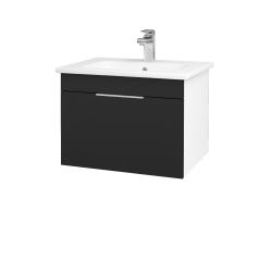Dreja - Kúpeľňová skriňa ASTON SZZ 60 - N01 Bílá lesk / Úchytka T05 / L03 Antracit vysoký lesk (137489F)