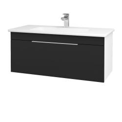 Dreja - Kúpeľňová skriňa ASTON SZZ 100 - N01 Bílá lesk / Úchytka T05 / L03 Antracit vysoký lesk (137540F)