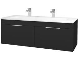 Dreja - Kúpeľňová skriňa ASTON SZZ2 120 - L03 Antracit vysoký lesk / Úchytka T05 / L03 Antracit vysoký lesk (146955FU)