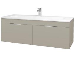 Dreja - Kúpeľňová skriňa ASTON SZZ2 120 - L04 Béžová vysoký lesk / Úchytka T05 / L04 Béžová vysoký lesk (146962F)