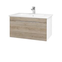 Dreja - Kúpeľňová skriňa ASTON SZZ 80 - N01 Bílá lesk / Úchytka T05 / D17 Colorado (199340F)