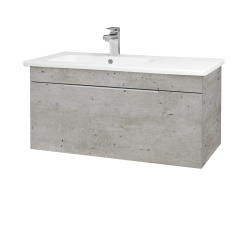 Dreja - Kúpeľňová skriňa ASTON SZZ 90 - D01 Beton / Úchytka T05 / D01 Beton (199456F)