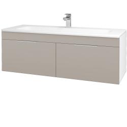Dreja - Kúpeľňová skriňa ASTON SZZ2 120 - N01 Bílá lesk / Úchytka T05 / N07 Stone (200329F)