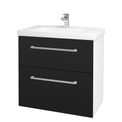 Dreja - Kúpeľňová skriňa BIG INN SZZ2 80 - N01 Bílá lesk / Úchytka T03 / N08 Cosmo (200664C)