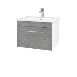 Dreja - Kúpeľňová skriňa ASTON SZZ 60 - N01 Bílá lesk / Úchytka T04 / D20 Galaxy (276645E)