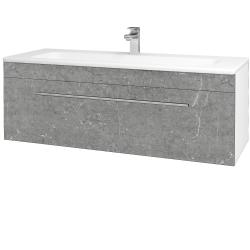 Dreja - Kúpeľňová skriňa ASTON SZZ 120 - N01 Bílá lesk / Úchytka T02 / D20 Galaxy (276805B)