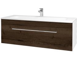 Dreja - Kúpeľňová skriňa ASTON SZZ 120 - N01 Bílá lesk / Úchytka T04 / D21 Tobacco (276812E)