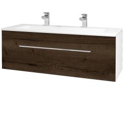 Dreja - Kúpeľňová skriňa ASTON SZZ 120 - N01 Bílá lesk / Úchytka T04 / D21 Tobacco (276812EU)