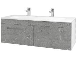 Dreja - Kúpeľňová skriňa ASTON SZZ2 120 - N01 Bílá lesk / Úchytka T01 / D20 Galaxy (276843AU)