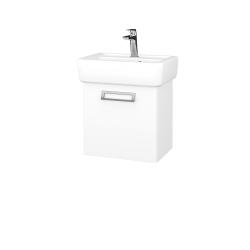 Dreja - Kúpeľňová skriňa DOOR SZD 45 - N01 Bílá lesk / L01 Bílá vysoký lesk / Pravé (134587P)