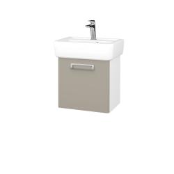 Dreja - Kúpeľňová skriňa DOOR SZD 45 - N01 Bílá lesk / L04 Béžová vysoký lesk / Pravé (149918P)