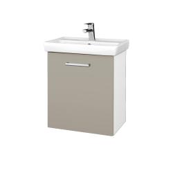Dreja - Kúpeľňová skriňa DOOR SZD 55 - N01 Bílá lesk / Úchytka T03 / L04 Béžová vysoký lesk / Pravé (122850CP)