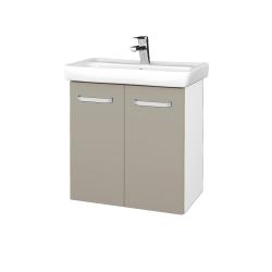 Dreja - Kúpeľňová skriňa DOOR SZD2 60 - N01 Bílá lesk / Úchytka T01 / L04 Béžová vysoký lesk (122898A)