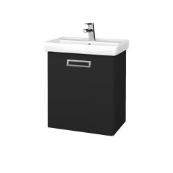 Dreja - Kúpeľňová skriňa DOOR SZD 55 - L03 Antracit vysoký lesk / Úchytka T39 / L03 Antracit vysoký lesk / Pravé (151713GP)