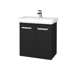 Dreja - Kúpeľňová skriňa DOOR SZD2 60 - L03 Antracit vysoký lesk / Úchytka T01 / L03 Antracit vysoký lesk (151744A)