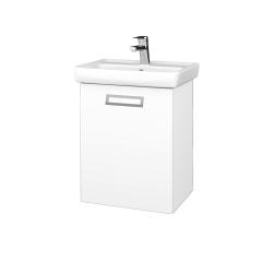 Dreja - Kúpeľňová skriňa DOOR SZD 50 - N01 Bílá lesk / Úchytka T39 / M01 Bílá mat / Levé (205102G)