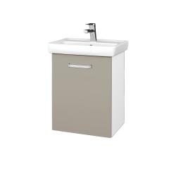 Dreja - Kúpeľňová skriňa DOOR SZD 50 - N01 Bílá lesk / Úchytka T01 / M05 Béžová mat / Levé (205119A)
