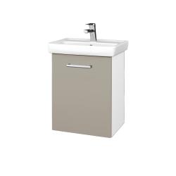 Dreja - Kúpeľňová skriňa DOOR SZD 50 - N01 Bílá lesk / Úchytka T03 / M05 Béžová mat / Levé (205119C)