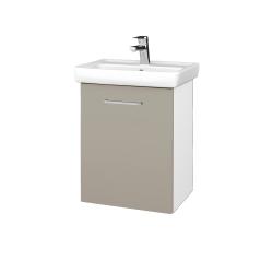 Dreja - Kúpeľňová skriňa DOOR SZD 50 - N01 Bílá lesk / Úchytka T04 / M05 Béžová mat / Pravé (205119EP)