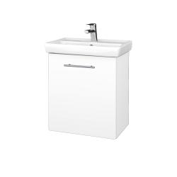 Dreja - Kúpeľňová skriňa DOOR SZD 55 - N01 Bílá lesk / Úchytka T02 / M01 Bílá mat / Levé (205140B)
