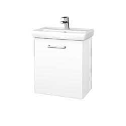 Dreja - Kúpeľňová skriňa DOOR SZD 55 - N01 Bílá lesk / Úchytka T03 / M01 Bílá mat / Levé (205140C)