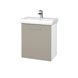 Dreja - Kúpeľňová skriňa DOOR SZD 55 - N01 Bílá lesk / Úchytka T02 / M05 Béžová mat / Pravé (205157BP)
