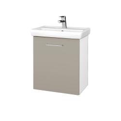 Dreja - Kúpeľňová skriňa DOOR SZD 55 - N01 Bílá lesk / Úchytka T04 / M05 Béžová mat / Pravé (205157EP)